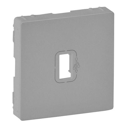 Лицевая панель розетки USB Valena LIFE алюминий