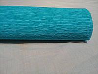 Креп-бумага (гофрированная) 50см х 2,5м голубой