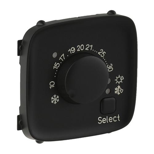 Лицевая панель комнатного термостата Valena ALLURE антрацит