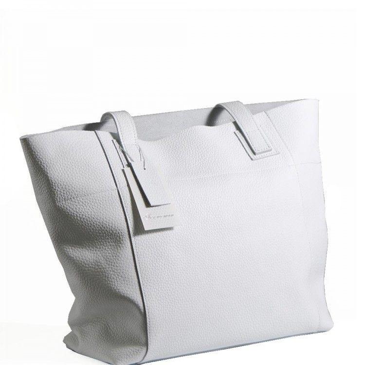 bc70fdbc672f Белая кожаная сумка украинского производства BagTop арт. BTJS-3-8 - BagShop.