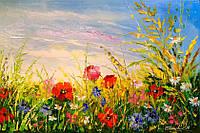 «Поле и цветы» картина маслом
