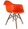 Кресло для офиса, кресло пластиковое для посетителей, кресло для кафе (Тауэр Вуд красный), фото 2