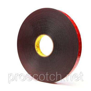 3M™ VHB™ Двухсторонняя клейкая лента (скотч) 5925F 6мм х 33м, толщ. 0,64мм, цвет черный, фото 2