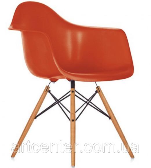 Кресло для офиса, кресло пластиковое для посетителей, кресло для кафе (Тауэр Вуд красный)