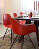 Кресло для офиса, кресло пластиковое для посетителей, кресло для кафе (Тауэр Вуд красный), фото 5