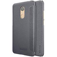 Кожаный чехол (книжка) Nillkin Sparkle Series для Xiaomi Redmi 5 Plus / Redmi Note 5 (SC) Черный