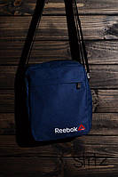Стильная сумка мессенджер рибок, барсетка синяя Reebrok