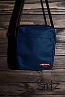 Классная сумка мессенджер истпак, барсетка синяя Eastpak