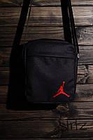 Популярная сумка мессенджер джордан, барсетка черная Jordan