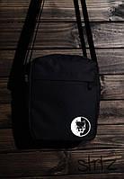 Универсальная сумка мессенджер питбуль, барсетка черная Pitbull