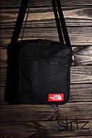 Молодёжная сумка мессенджер норт фейс, барсетка черная The North Face