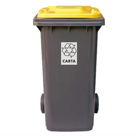 FILMOP Бак для мусора желтая крышка 120л