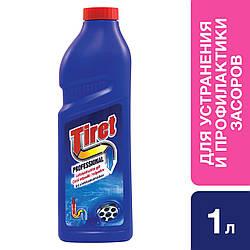 TIRET Професіонал-гель для усунення та профілактики засмічень на каналізаційних трубах 1Л