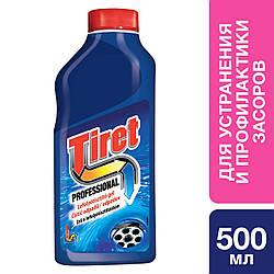 TIRET Професіонал-гель для усунення та профілактики засмічень на каналізаційних трубах 500 мл