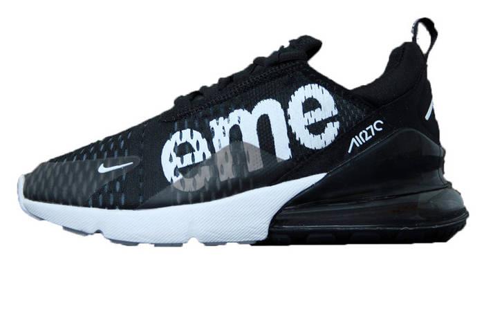 Мужские кроссовки Nike Air Max 270 SUPREME Black White (Реплика ААА ... d6aed51023c