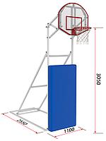 Стритбольная мобильная стойка (щит оргстекло)
