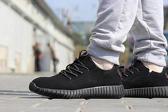 Кроссовки мужские Adidas Yeezy Boost  экозамш черные