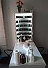 Маникюрный стол профессиональный двухтумбовый, витрина для лаков с подсветкой, стол для маникюра белый, фото 6