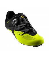Обувь Mavic COSMIC ELITE размер UK 7 (40 2/3, 257мм) Black/Black/Safety черно-желтая