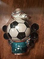 """Штоф """" Мяч + 6 рюмок"""". Славянская керамика. Посуда керамическая. Сувениры, керамика."""