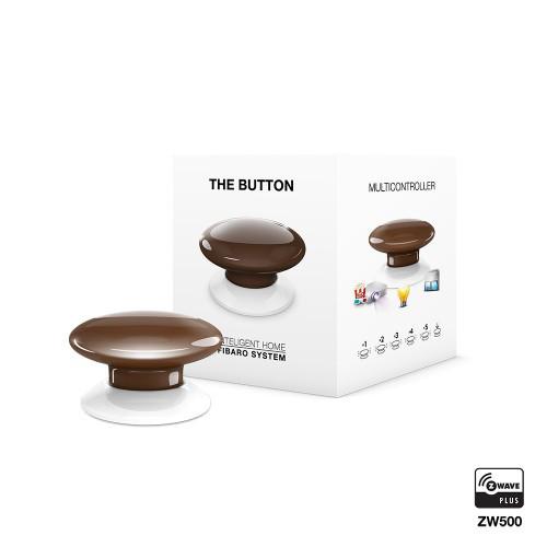 FGPB-101-7 FIBARO The Button (brown), Z-Wave багатофункціональна кнопка (коричнева)