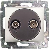 Механизм розетки TV+R простой 862МГц 14dB алюминий 770132 Legrand Valena