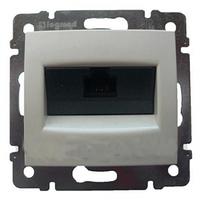 Механизм розетки компьютерной RJ45 кат.6e UTP алюминий 770246 Legrand Valena