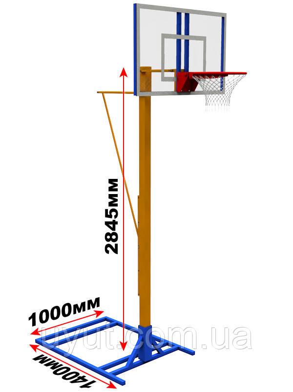 Мобильная баскетбольная разборная стойка (щит оргстекло)