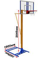Мобильная баскетбольная разборная стойка (щит оргстекло), фото 1