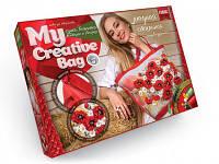 Набор для творчества Сумка вышитая лентами и бисером My Creative Bag MCB-01-01,набор для вышивки