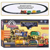 Детская железная дорога 0621/40352 муз, свет, дым, 20 предметов 70-44-10см, игрушка