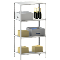 Стеллажи металлические 4 полки (2000х700х500)