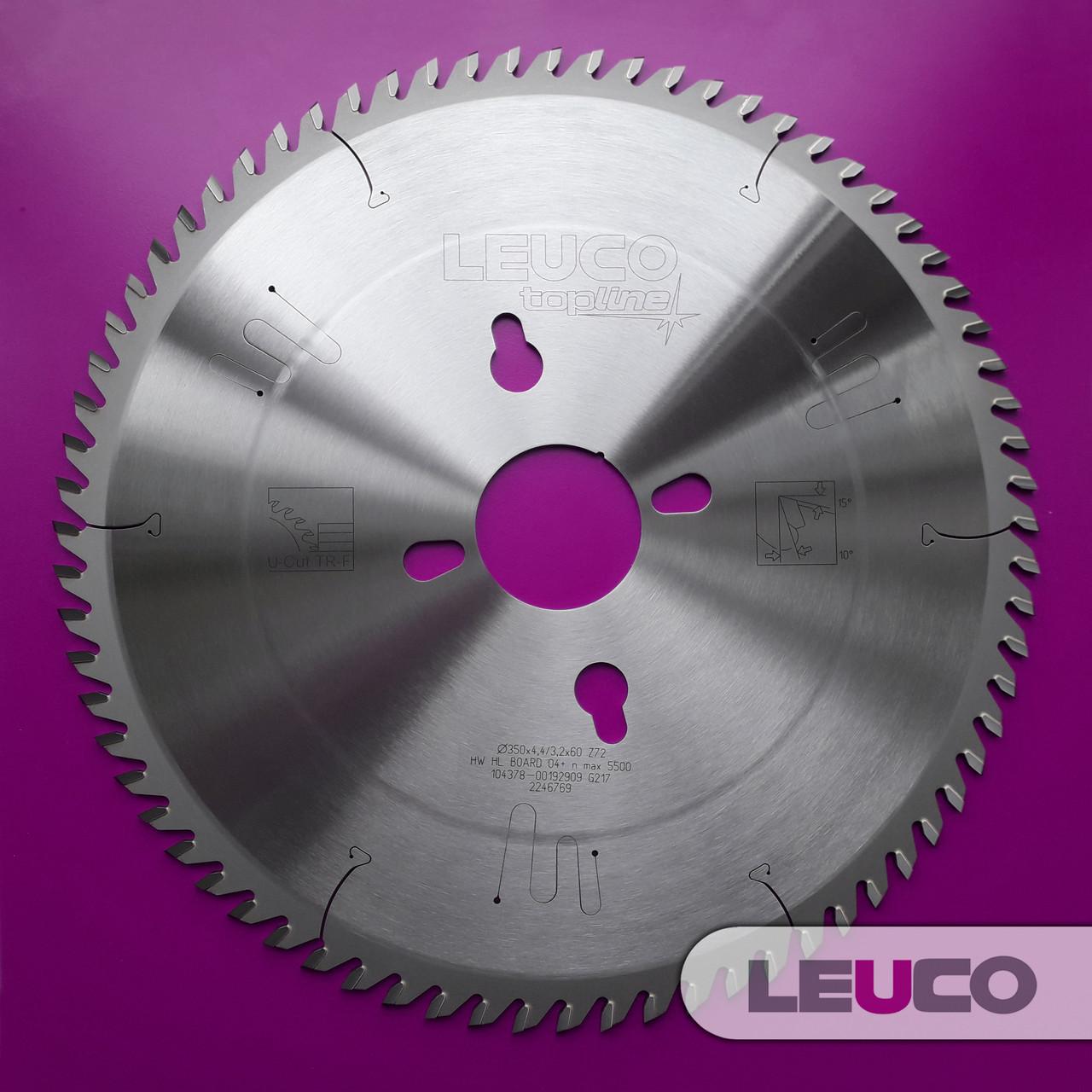 Основная дисковая пила Leuco для пильных центров, 350x4,4/3,2x60 Z=72