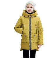 Демисезонная детская куртка Миранда оливка (30-38)