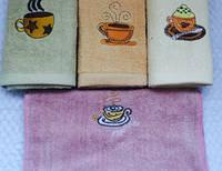 """Махровое кухонное полотенце """"Чашки"""""""