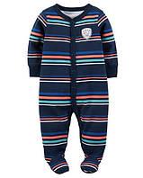 """Хлопковый комбинезон для сна и игры """"Полоска"""" Carter's для мальчика синий 6 мес/61-67 см"""