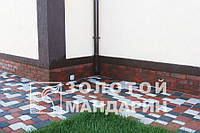 Тротуарная плитка Старый город: цвета - красный, коричн, графит, оливка  (H - 40) от произв. ЗОЛОТОЙ МАНДАРИН