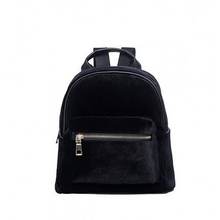 Рюкзак женский велюровый Adel черный eps-8147, фото 2
