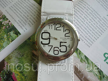 Часы кварцевые Wide Leather Band Quartz Watch #115