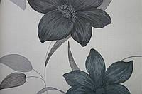 Бумажные обои Шарм 112-02 Флора Декор цветы серые обои 0,53х10,05м