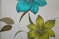 Бумажные обои Шарм 112-03 Флора Декор цветы зеленые обои 0,53х10,05м