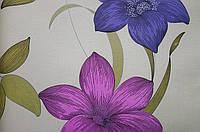 Бумажные обои Шарм 112-05 Флора Декор цветы розовые обои 0,53х10,05м