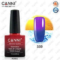 Гель-лак термо Canni 339 пастельный синий - сиреневый 7,3ml, фото 1