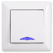 Gunsan Visage Выключатель с подсветкой белый