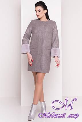 Женское элегантное пальто весна-осень (р. XS, S, M, L) арт. Амелия 4396 - 21449, фото 2