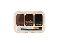 Тени DoDo Eyebrow powder (3 цв - овал)Палитра №1,2,3 - 003BP|