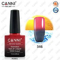 Гель-лак термо Canni 346 серый - розовый 7,3ml, фото 1