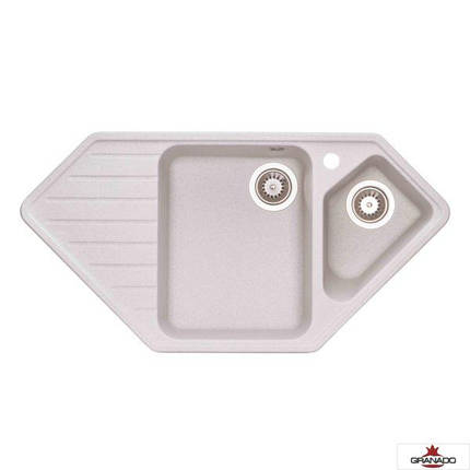 Кухонная мойка гранитная серая с евросифоном 98*50 см Granado IBIZA Gris 1808, фото 2