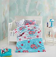 Постельное белье в кроватку для новорожденных NAZENIN fishy