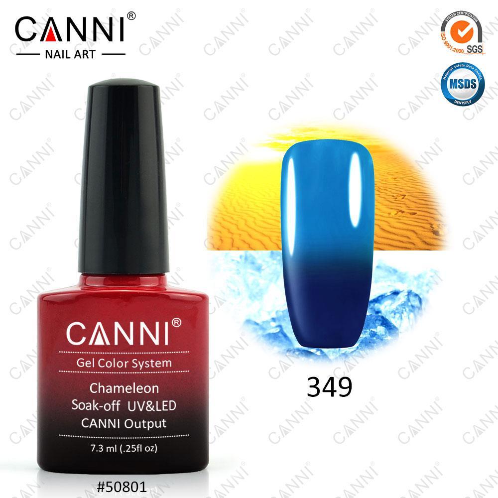 Гель-лак термо Canni 349 темный синий - голубой 7,3ml